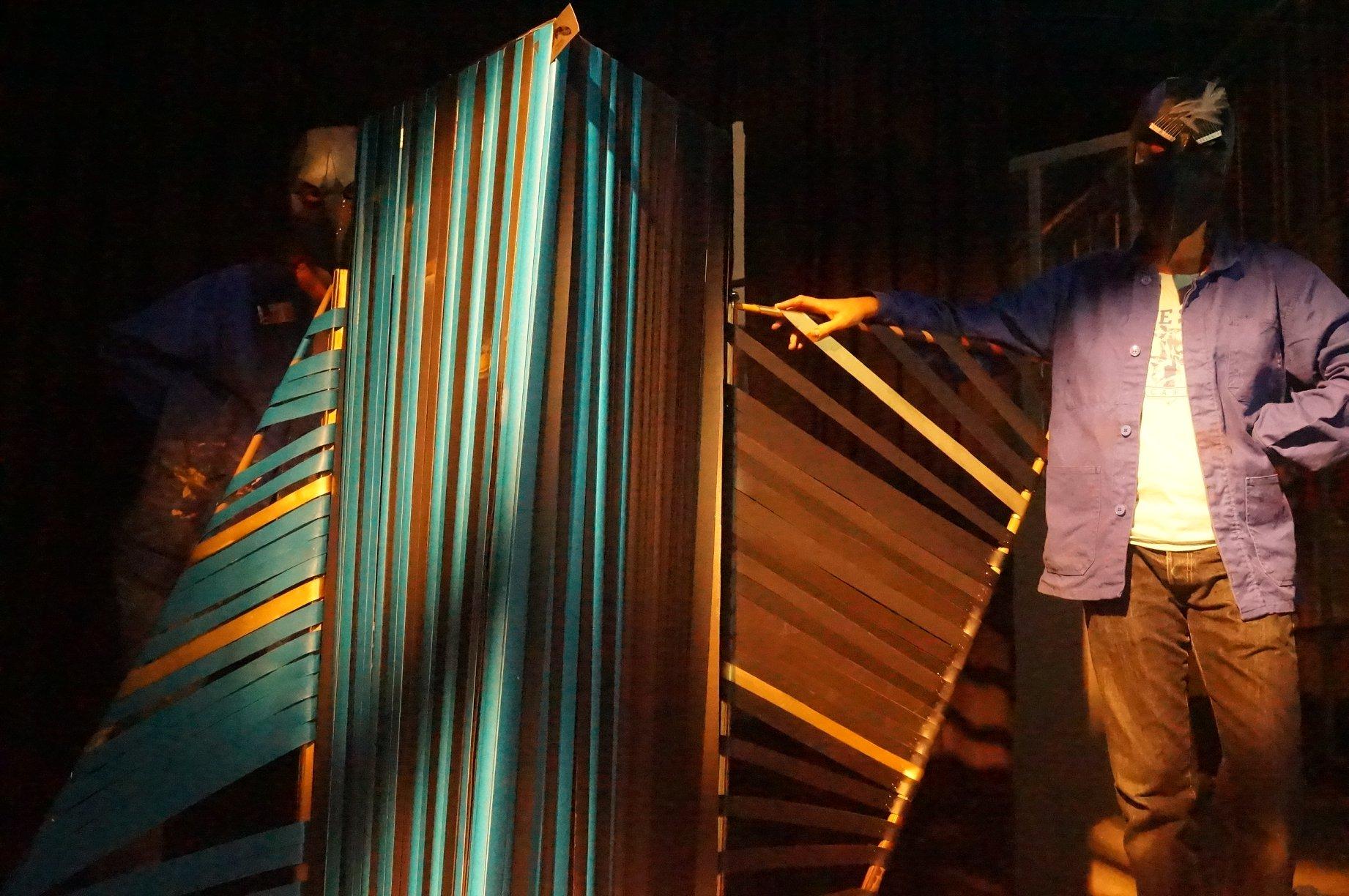 Migration et intimité / Festival Nuit filante (projet du BES) / Création collective / Oeuvre plastique